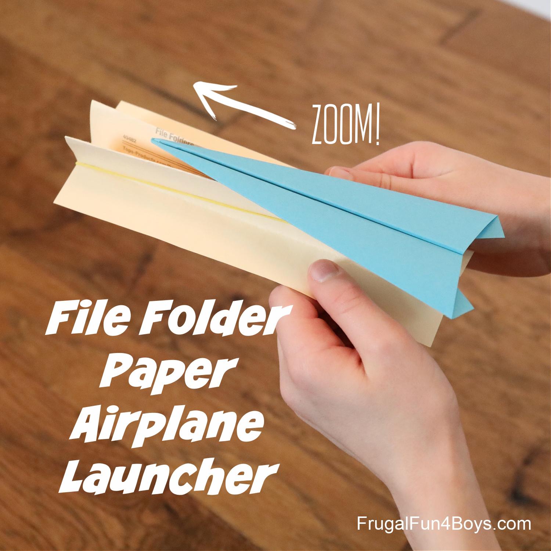File Folder Paper Airplane Launcher