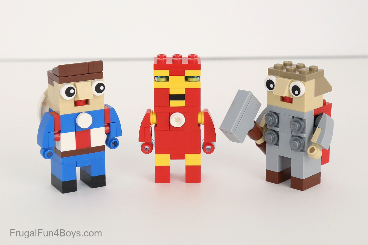 Lego Marvel Captain America, Iron Man, and Thor