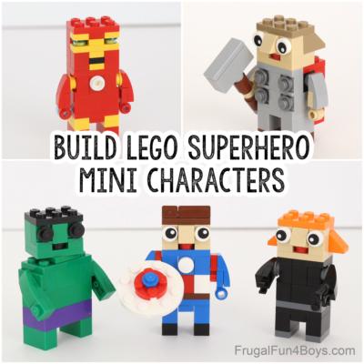 How to Build LEGO Superhero Mini Characters