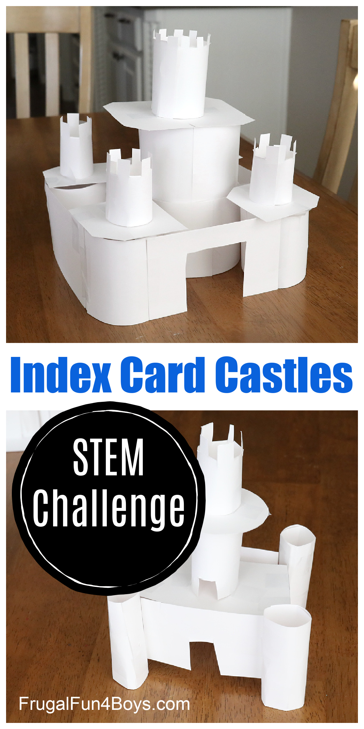 Index Card Castles! STEM challenge