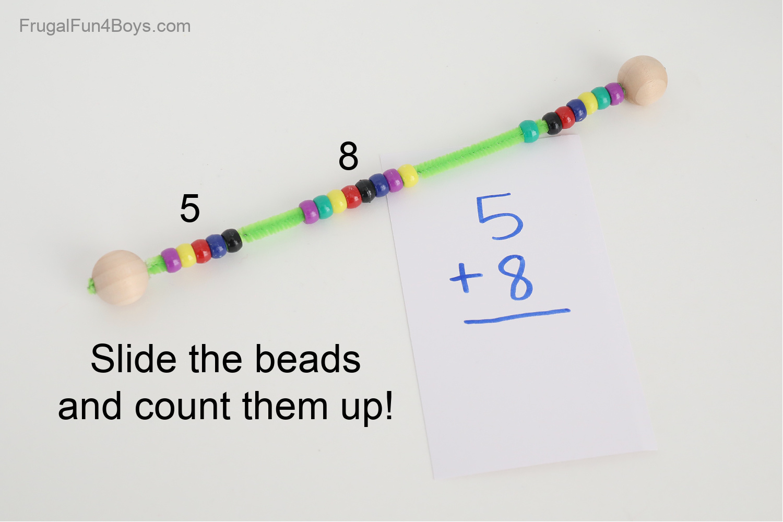 Addition Activity - bead calculator