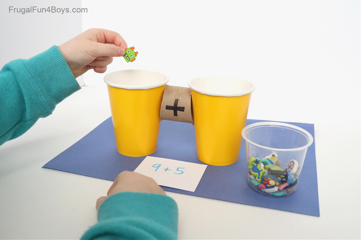 addition activities with simple supplies