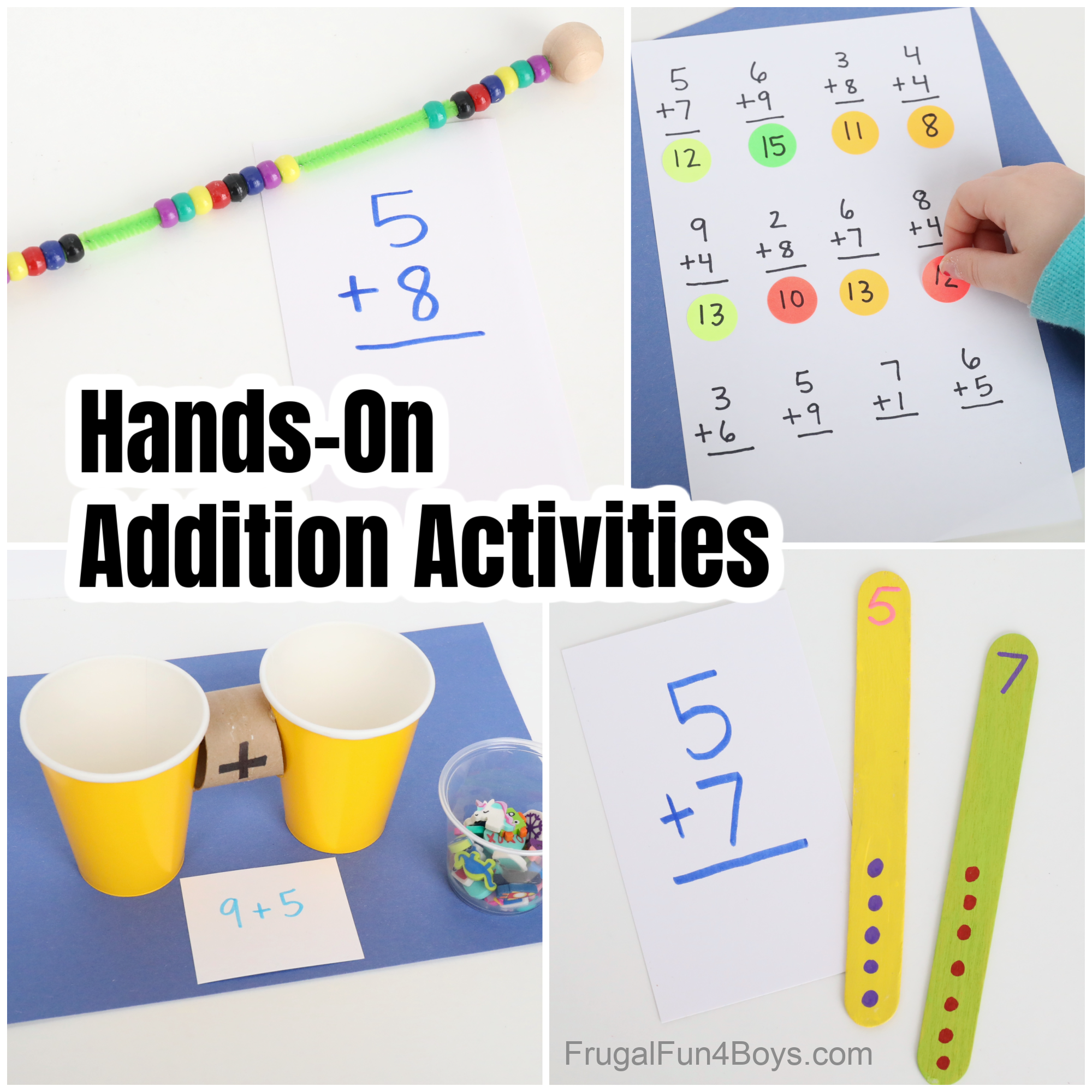 Addition Activities for Kindergarten and First Grade
