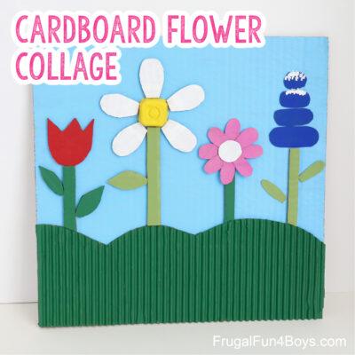 Cardboard Flower Collage