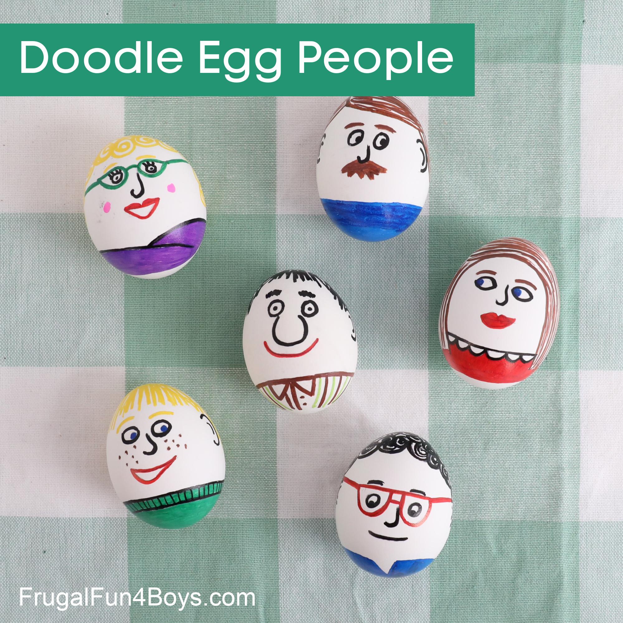 Doodle Egg People - Egg Decorating Ideas