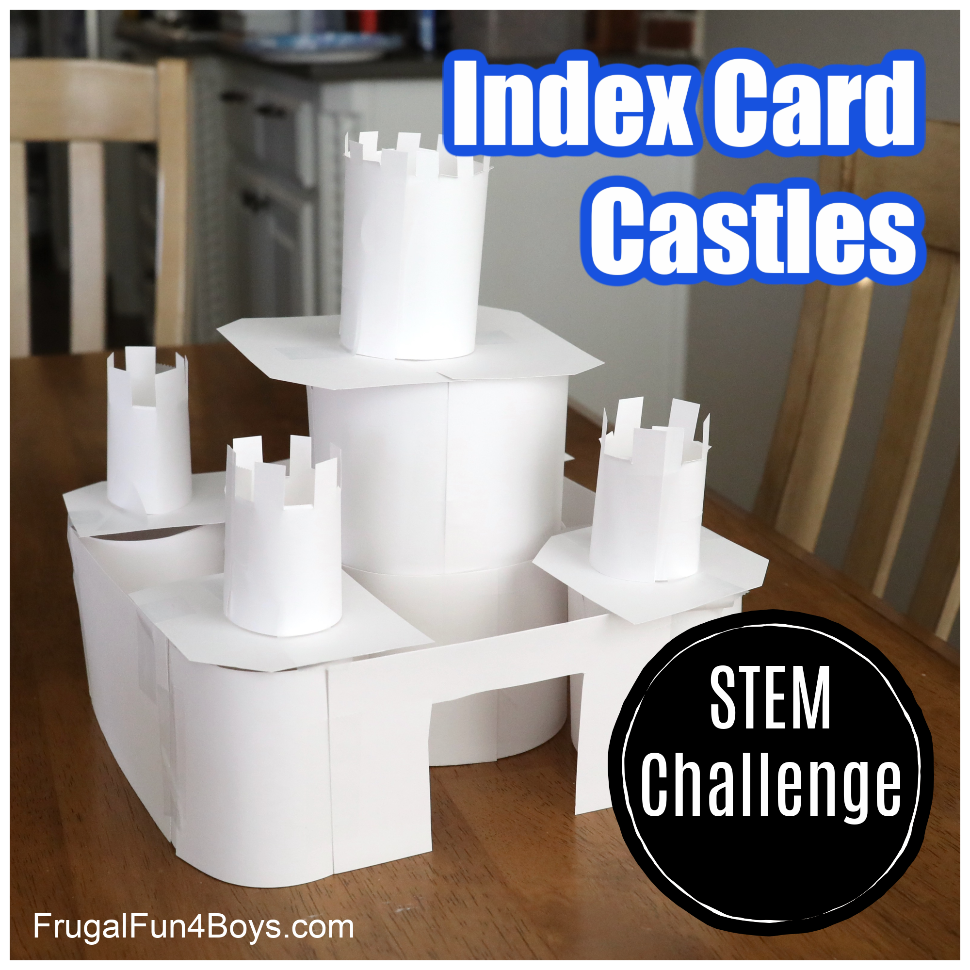 Index Card Castles STEM Challenge