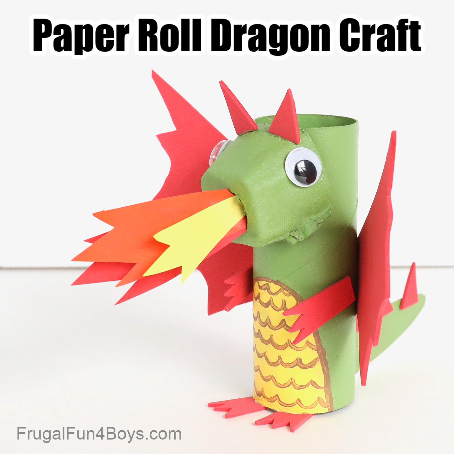 Paper Roll Dragon Craft