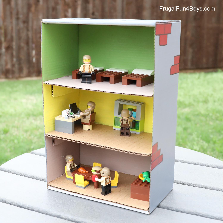 Shoebox LEGO Fort Building