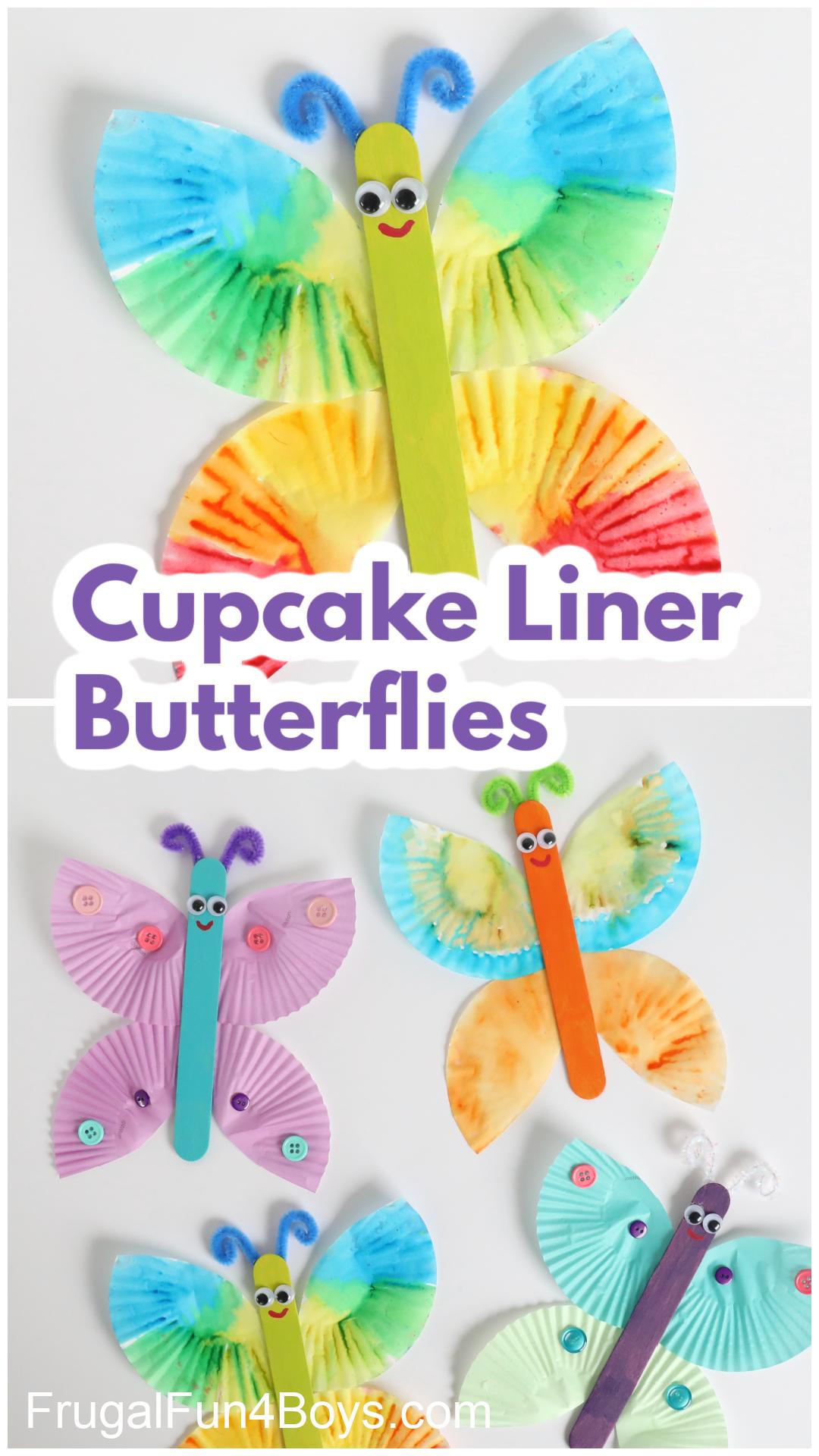 Cupcake Liner Butterflies