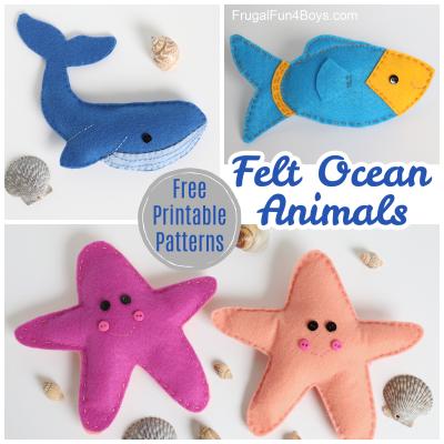 Felt Ocean Animals Beginning Sewing
