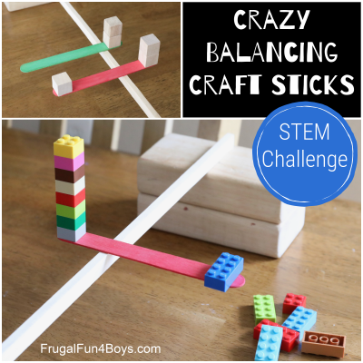 Crazy Balancing Craft Sticks STEM Challenge