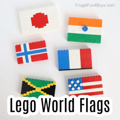 Build World Flags with LEGO Bricks