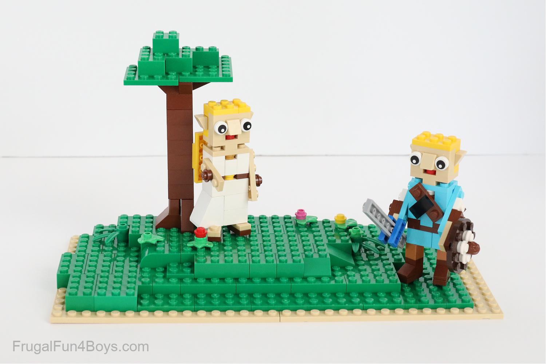 Lego Link and Zelda