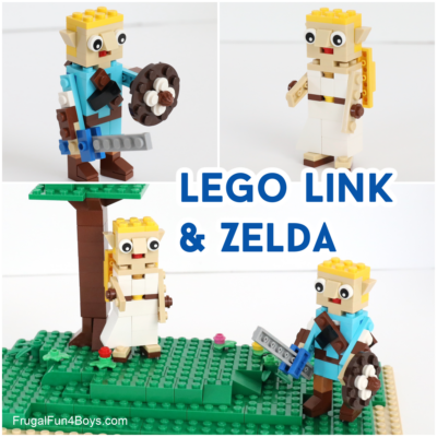 Build Link and Zelda with LEGO Bricks