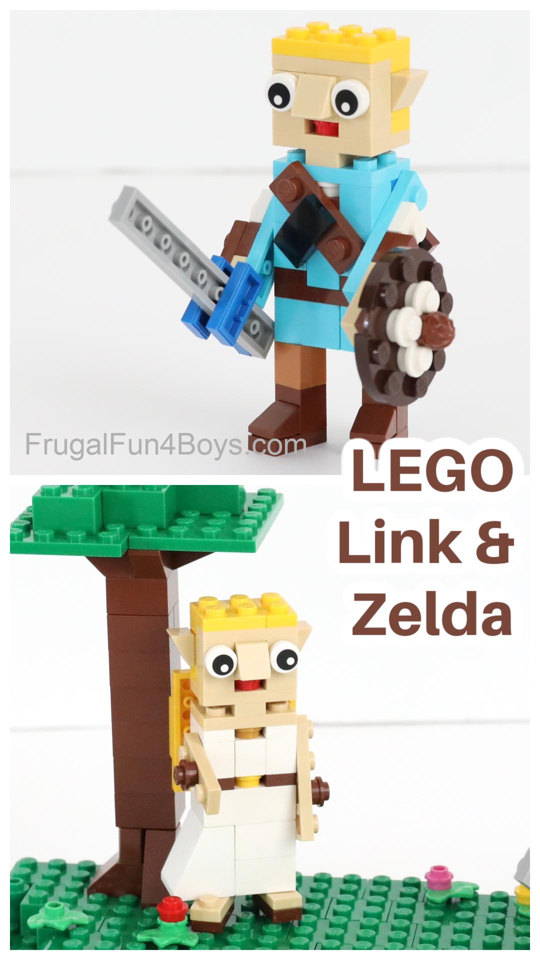 Lego Link and Zelda Characters