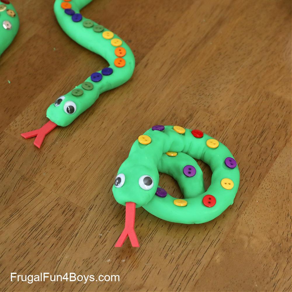 Play Dough Snakes