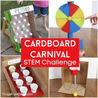 Cardboard Carnival Games {Challenge for Kids}