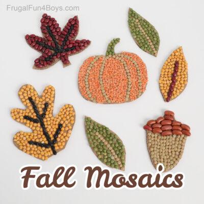 Fall Kids Craft – Bean Mosaics