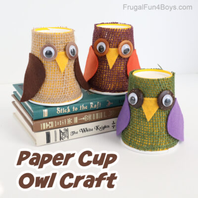 Adorable Paper Cup Owl Craft