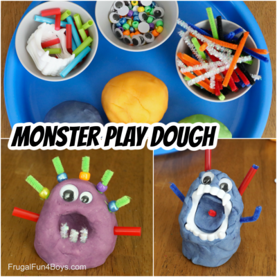 Silly Monster Play Dough Activity